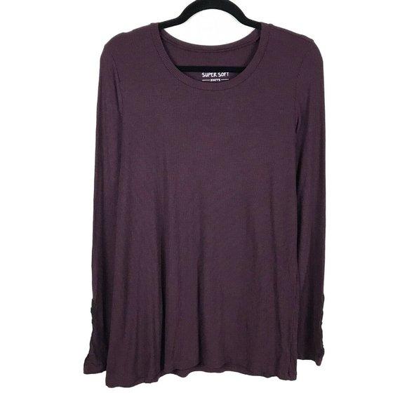 Torrid Top Super Soft Knit Purple Long Sleeve Top